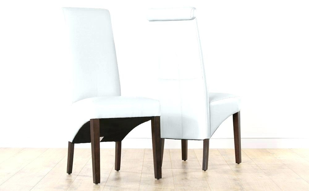 Decoration: White Leather Dining Chairs Chair Faux Canada (View 18 of 25)