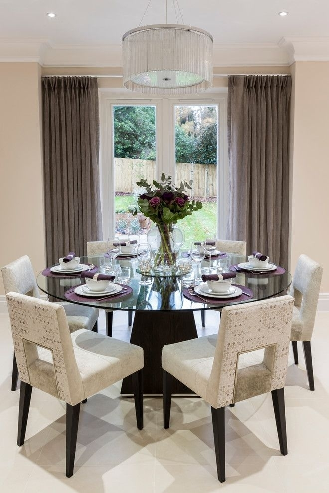 Decorative Dining Room Transitional Design Ideas For French Round In Lindy Espresso Rectangle Dining Tables (View 14 of 25)