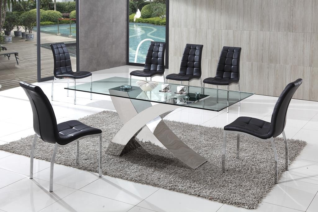 Decorative Ideas For A Glass Dining Table | Glass Vault Furniture Blog Within Chrome Glass Dining Tables (View 8 of 25)