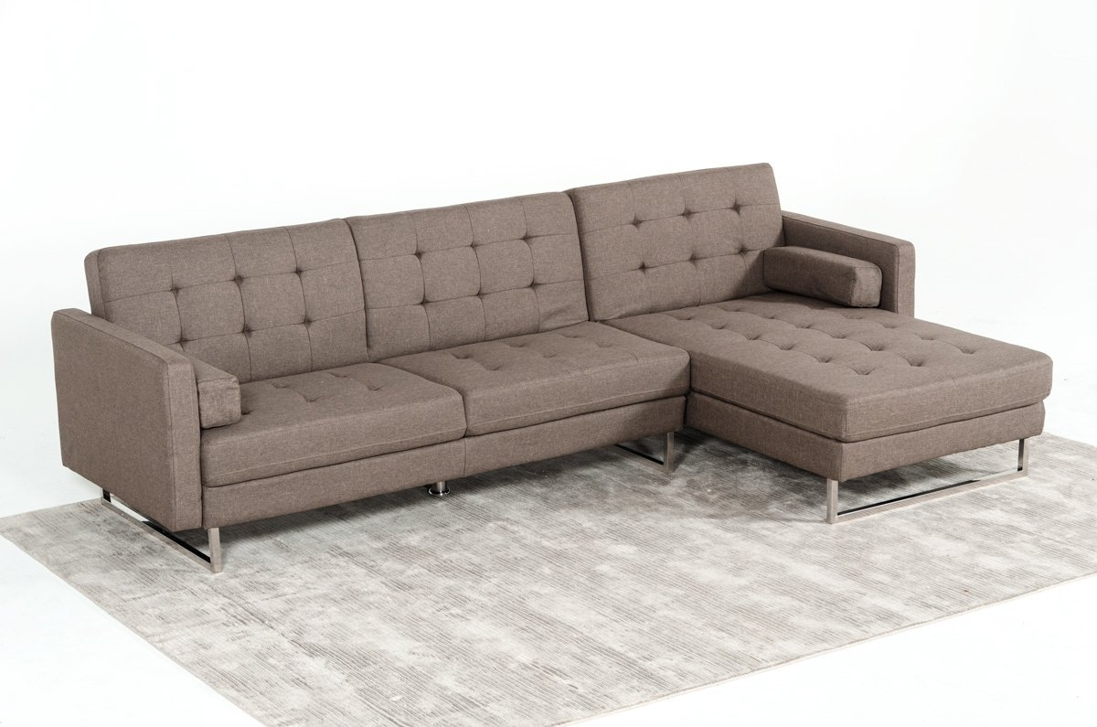 Deep Seat Sectional Sofas | Wayfair In Norfolk Grey 3 Piece Sectionals With Laf Chaise (Image 4 of 25)