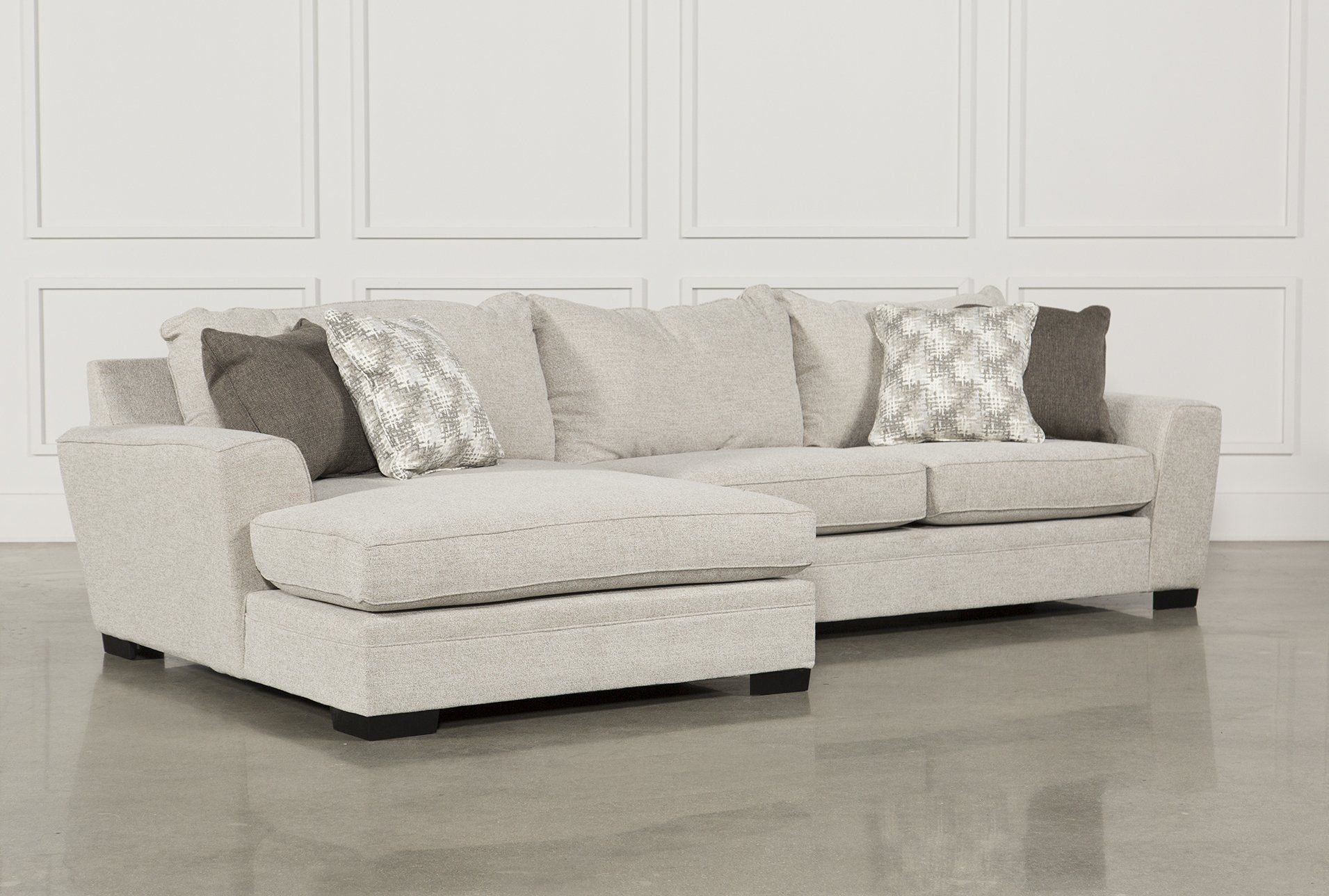 Delano 2 Piece Sectional W/laf Oversized Chaise | Beige Sofa Within Glamour Ii 3 Piece Sectionals (View 11 of 25)