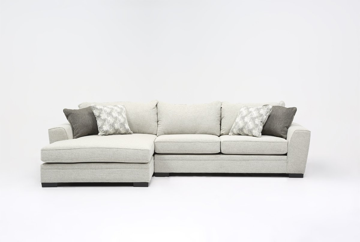 Delano 2 Piece Sectional W/laf Oversized Chaise | Living Spaces Throughout Aurora 2 Piece Sectionals (Image 12 of 25)