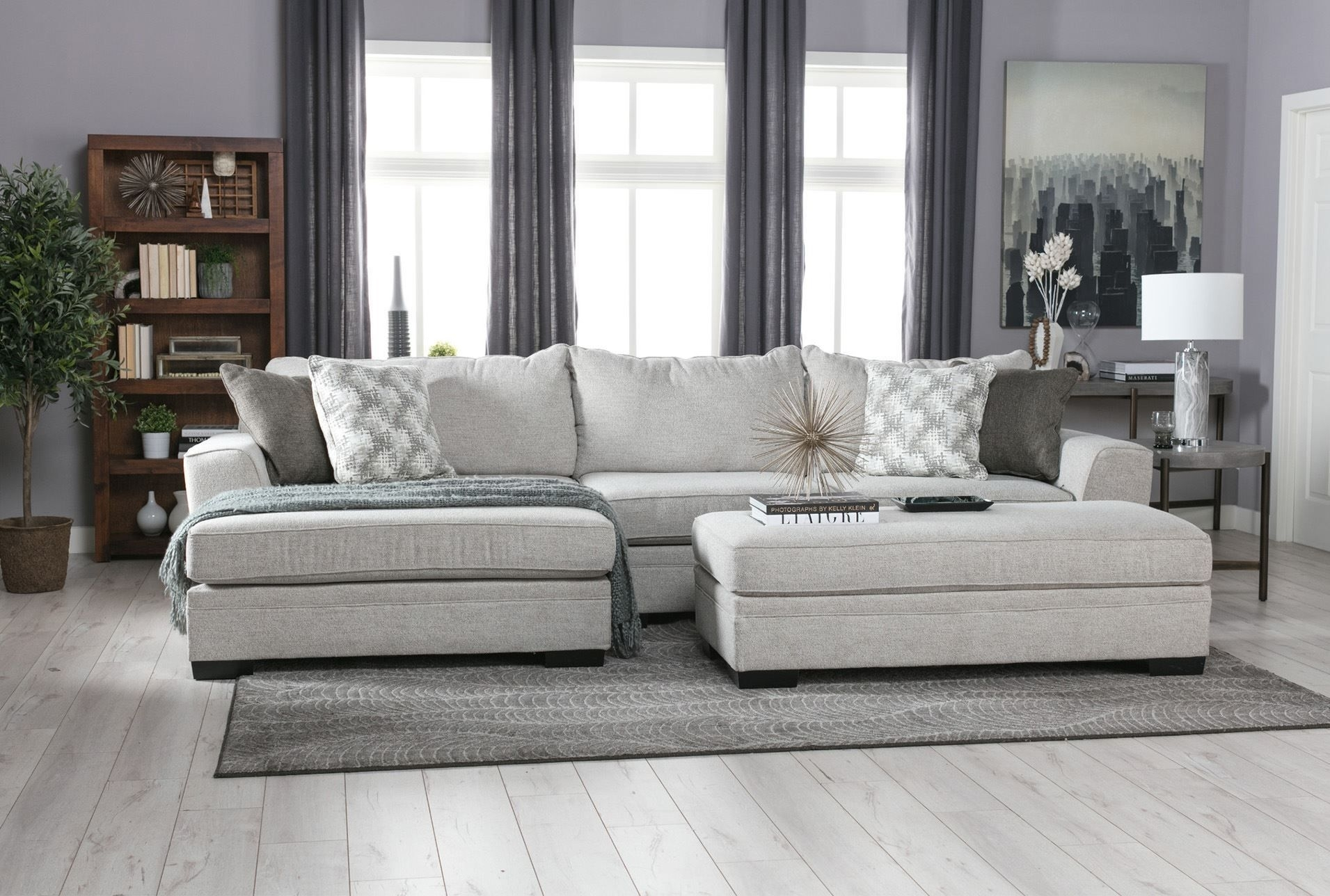 Delano 2 Piece Sectional W/laf Oversized Chaise | Sylvia Son With Haven Blue Steel 3 Piece Sectionals (View 9 of 25)