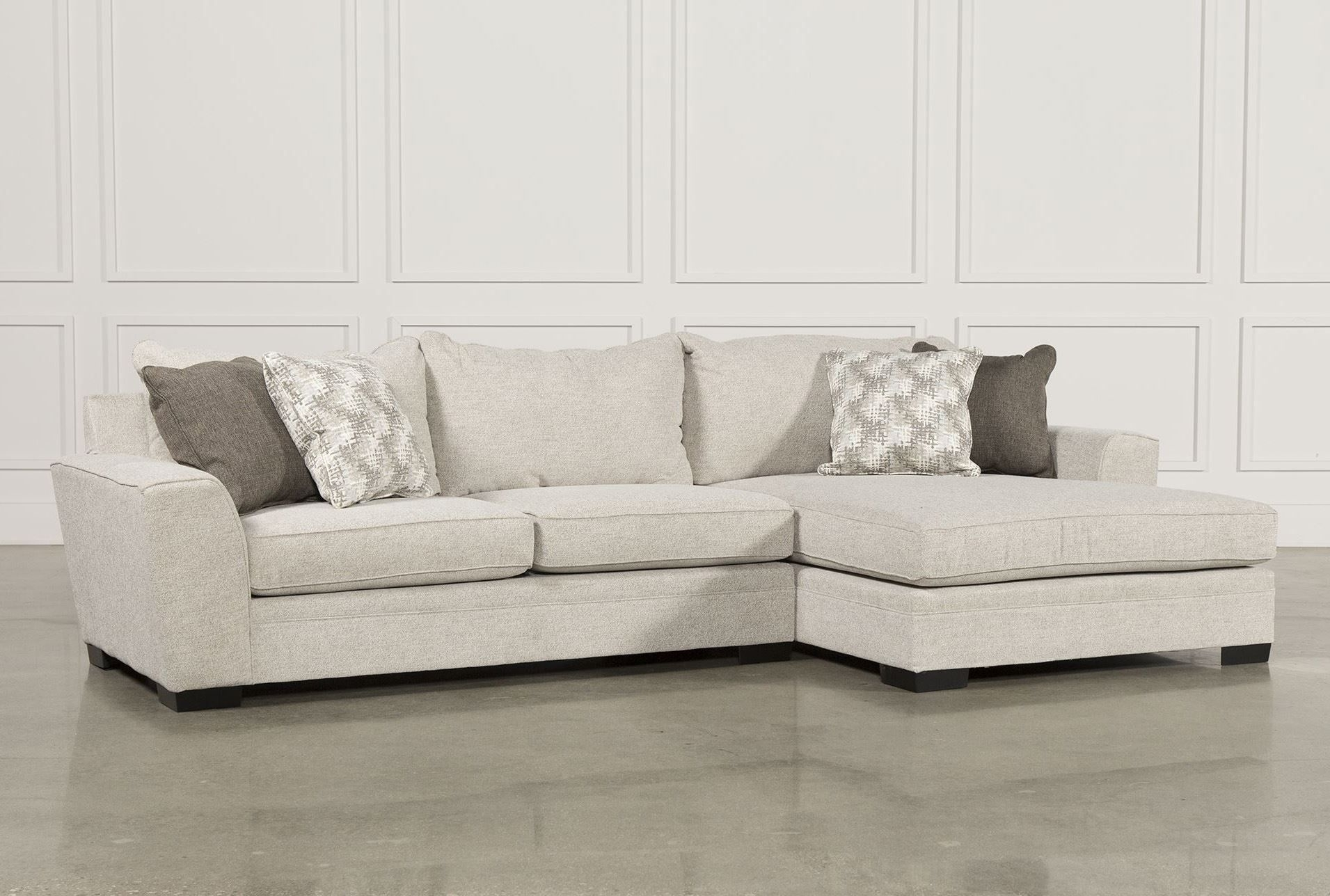 Delano 2 Piece Sectional W/raf Oversized Chaise | New Home Pertaining To Burton Leather 3 Piece Sectionals (Image 6 of 25)