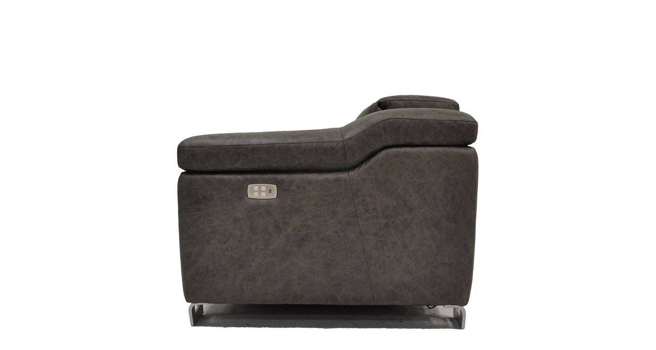 Delano • Texas Leather Interiors Furniture And Accessories Within Travis Dk Grey Leather 6 Piece Power Reclining Sectionals With Power Headrest & Usb (Image 11 of 25)