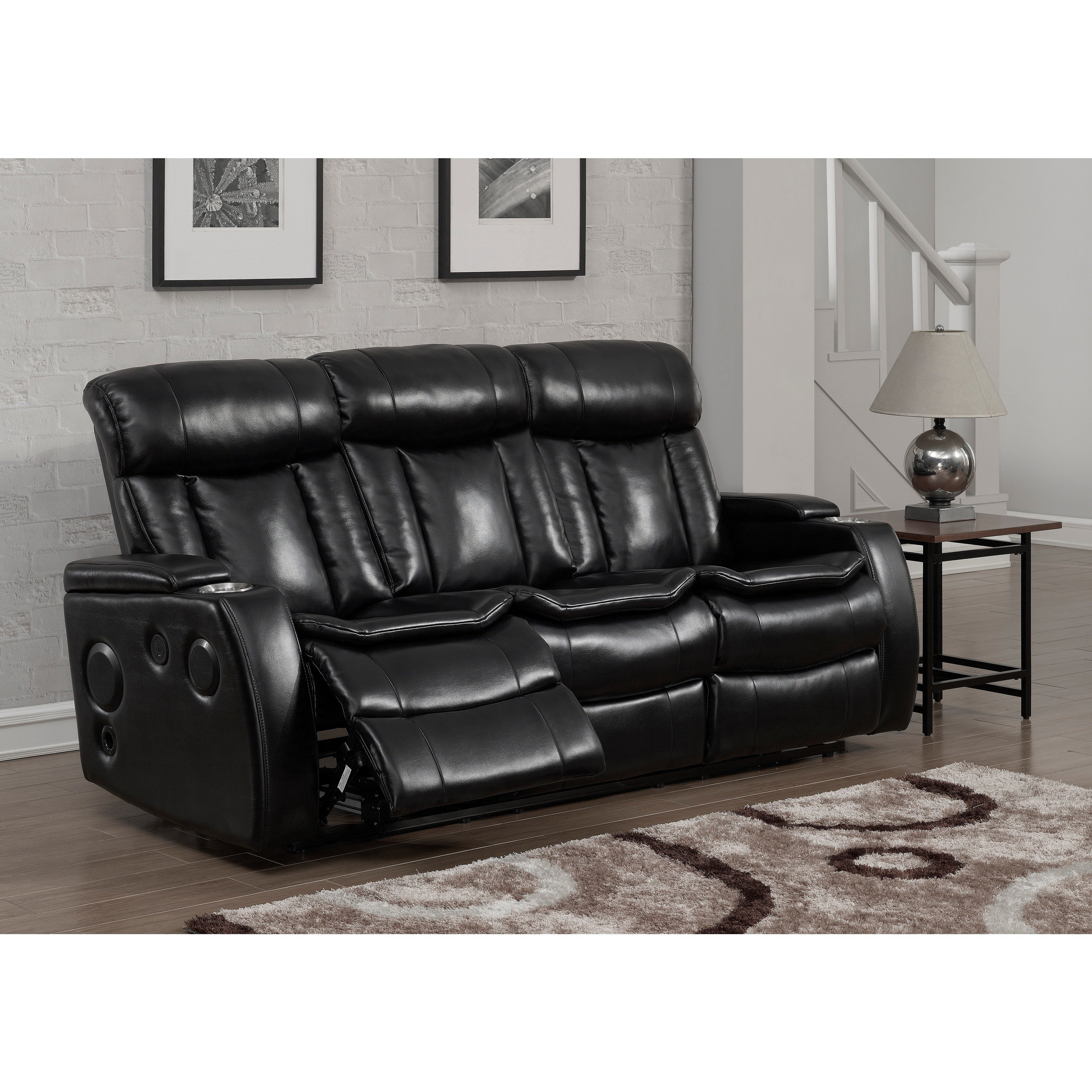 Delano Power Reclining Sofa With Usb | Baci Living Room Regarding Delano Smoke 3 Piece Sectionals (View 13 of 25)
