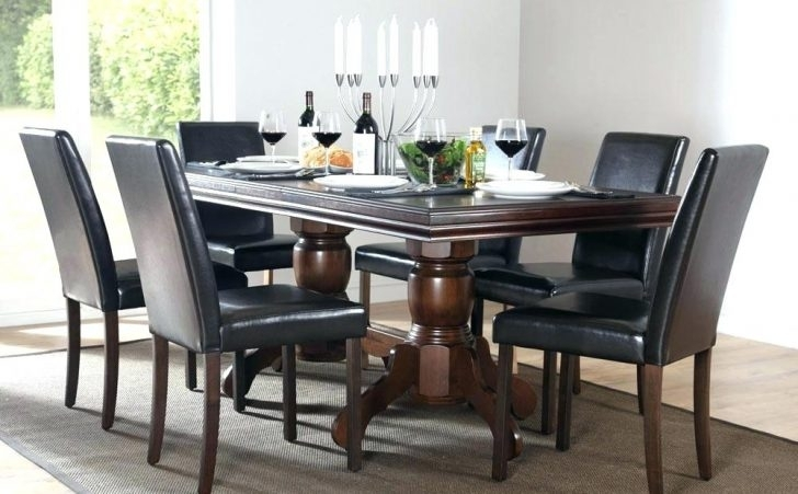 Delectable Dark Wood Dining Room Chairs Table With White Cheap With Dark Wood Dining Room Furniture (Image 14 of 25)