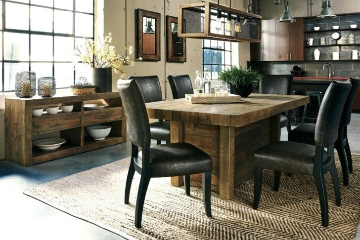 Delectable Rectangle Dining Room Tables Table With Leaf Tablecloth Throughout Helms 6 Piece Rectangle Dining Sets With Side Chairs (Image 9 of 25)