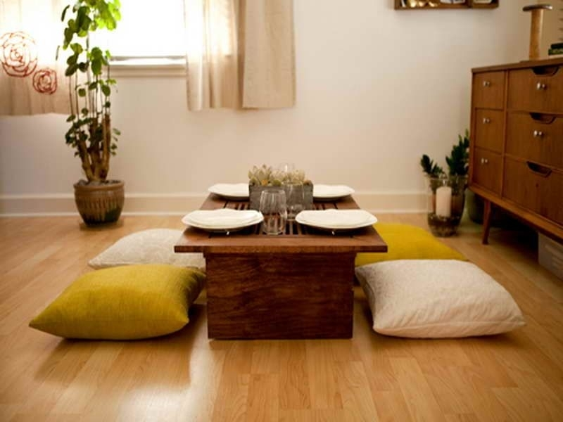 Delightful Japanese Style Low Dining Table Ideas Awesome Japanese Throughout Indian Style Dining Tables (Image 5 of 25)