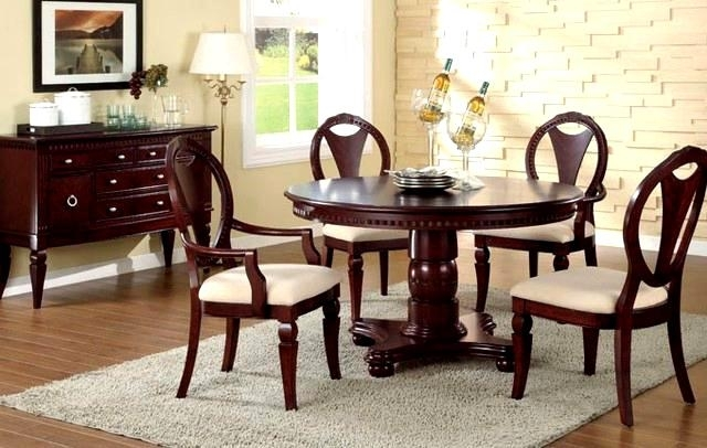 Delightful-Wood-Dining-Set-F-D-Dining-Set-F-Furniture-Cherry-Wood intended for Ebay Dining Suites