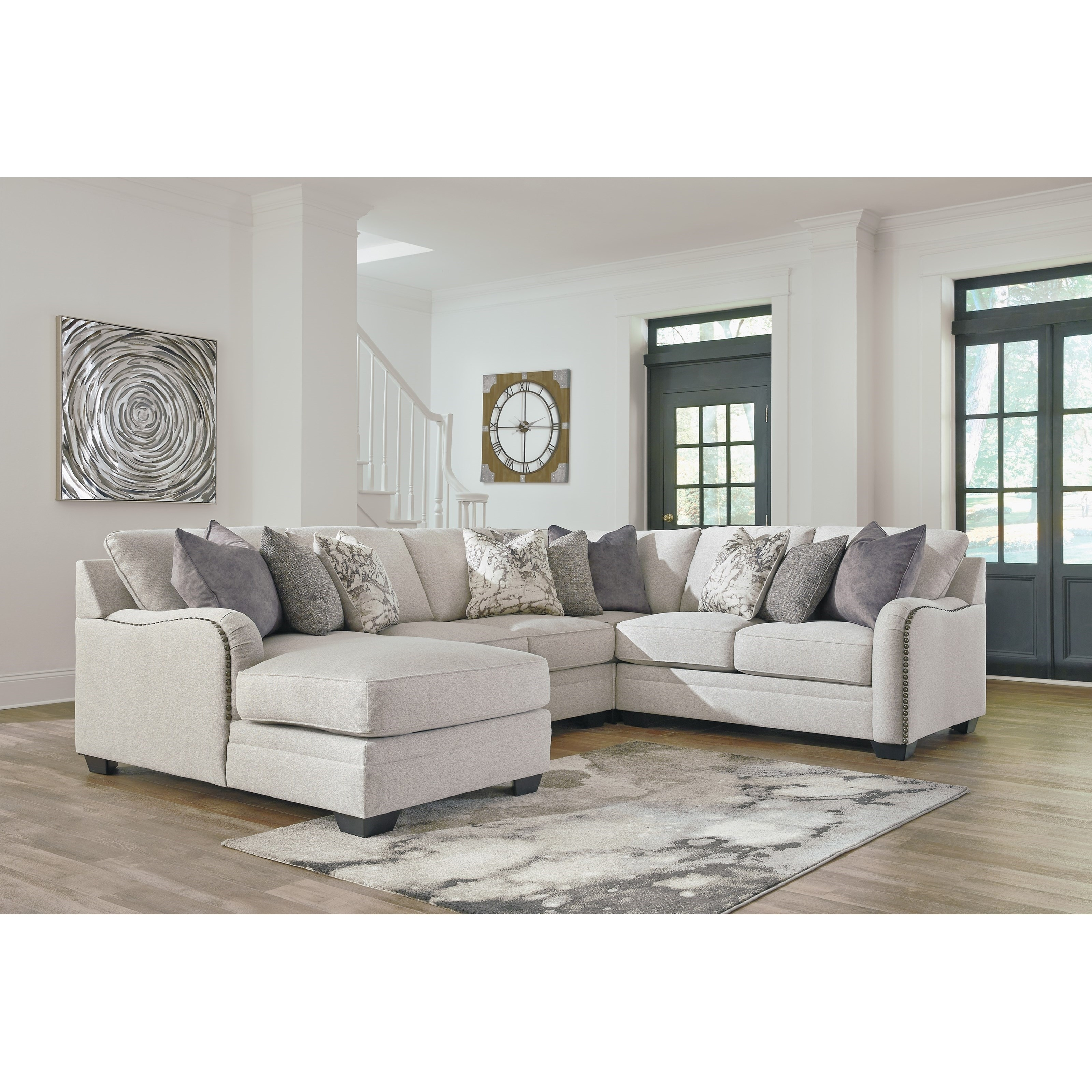Dellara Casual 4 Piece Sectional With Left Chaise   Becker Furniture Regarding Blaine 4 Piece Sectionals (Image 8 of 25)