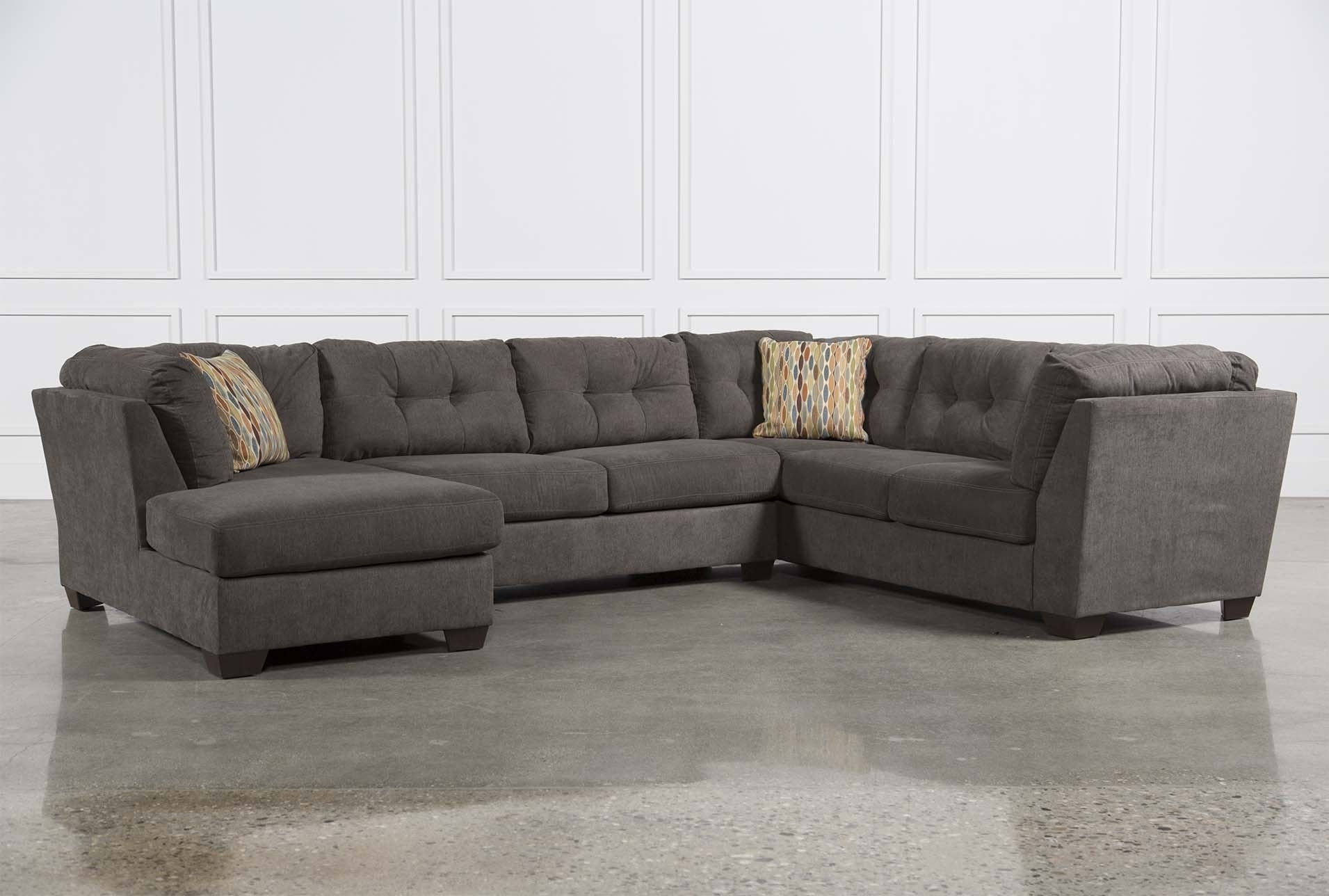 Delta City Steel 3 Piece Sectional W/laf Chaise – Signature | New With Norfolk Chocolate 6 Piece Sectionals With Laf Chaise (Image 10 of 25)