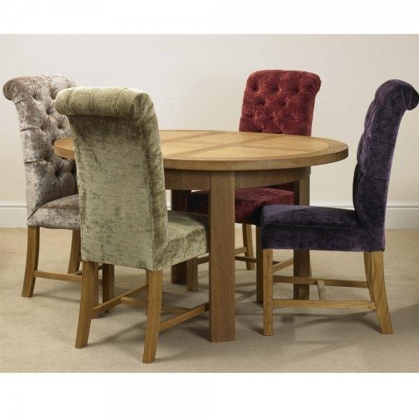 Deluxe Button Back Dining Chair In Velvet Fabric A Wide Choice Of In Button Back Dining Chairs (Image 14 of 25)