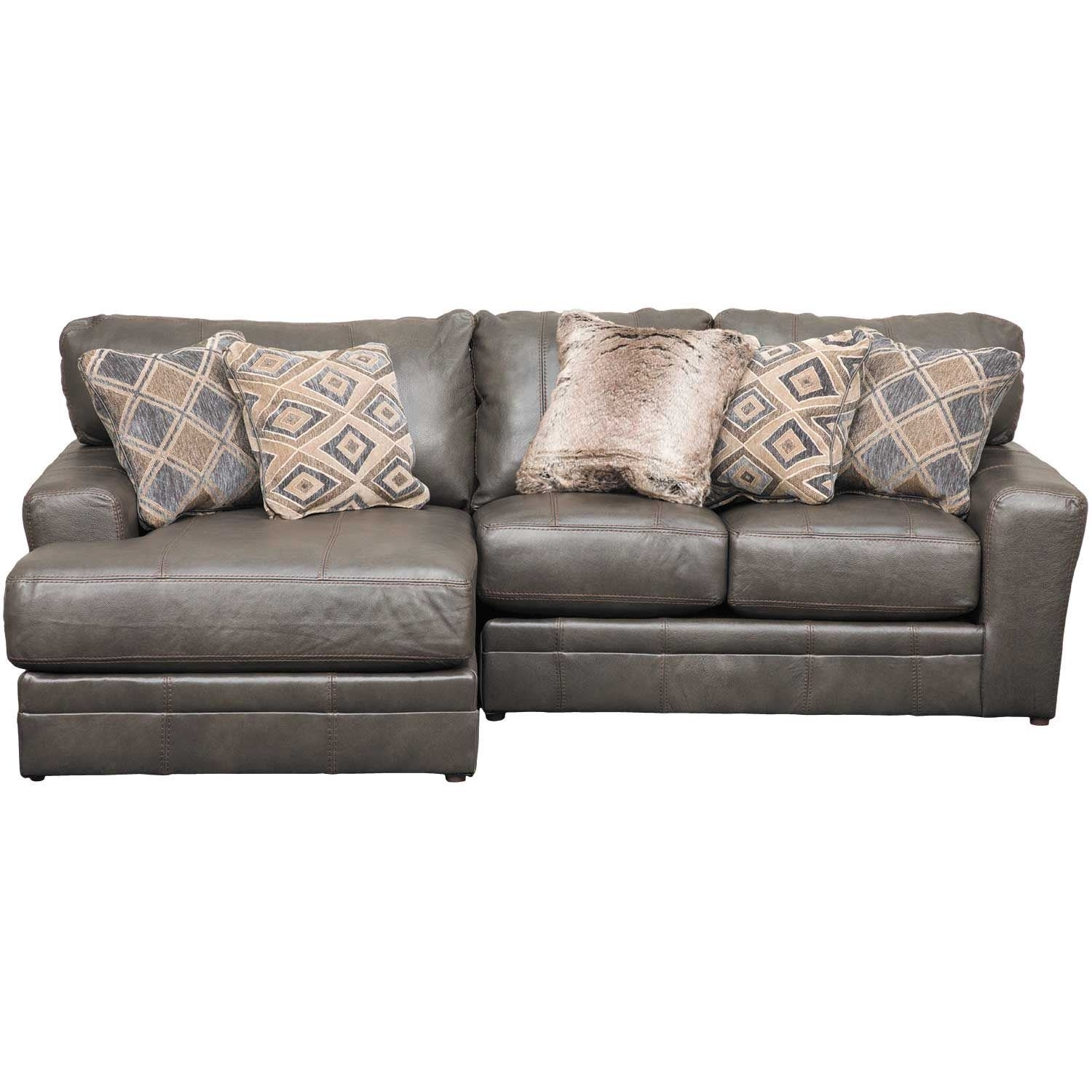 Denali 2 Piece Italian Leather Sectional With Laf Chaise | 4378 75 Inside Cosmos Grey 2 Piece Sectionals With Laf Chaise (View 14 of 25)