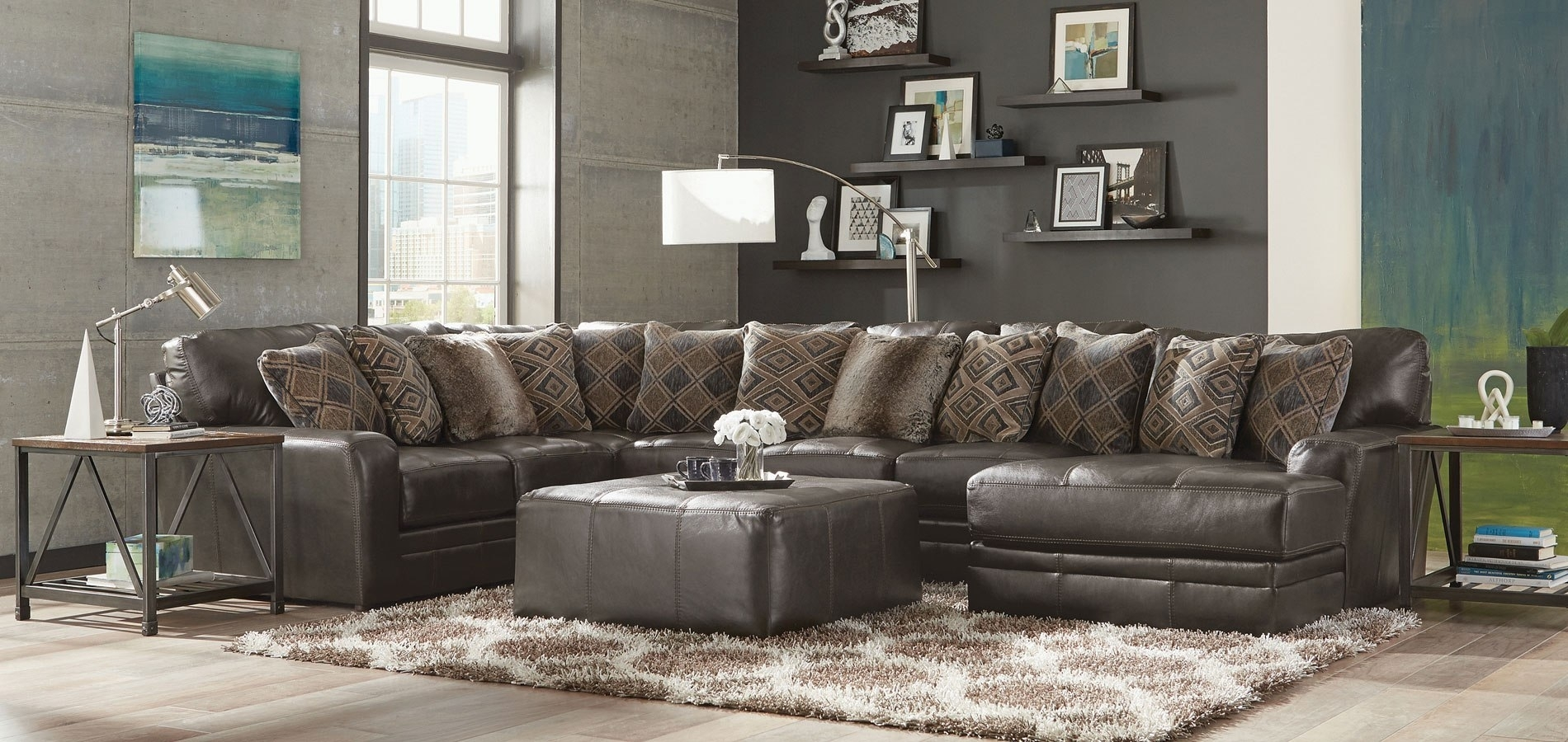 Denali Modular Sectional (Steel) Jackson Furniture   Furniture Cart For Denali Charcoal Grey 6 Piece Reclining Sectionals With 2 Power Headrests (Image 18 of 25)