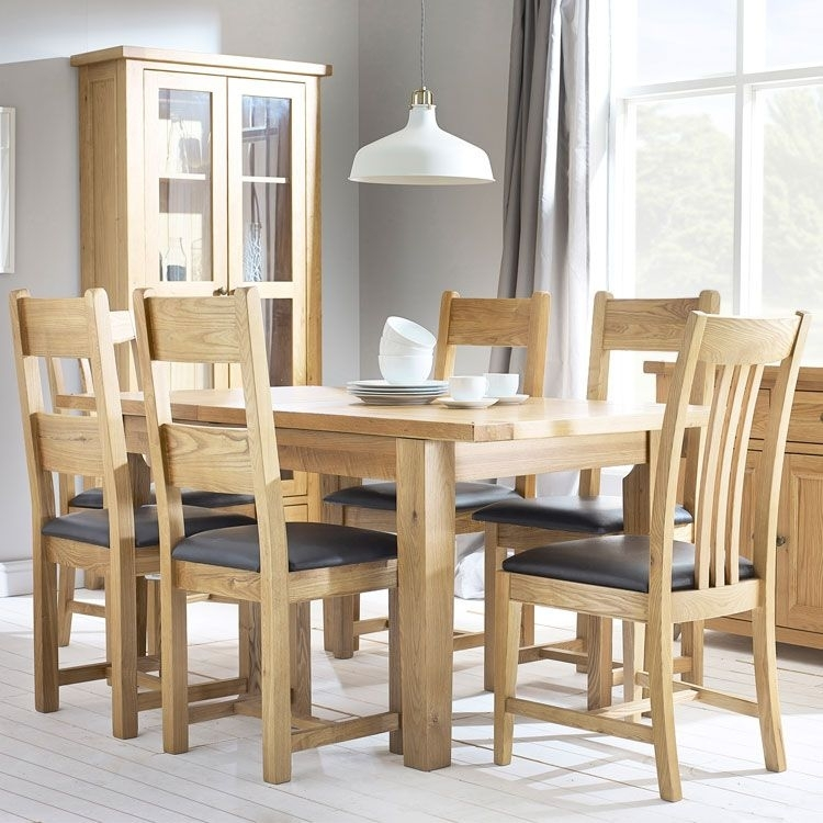 Denver Oak Extending Dining Table & 4 Chairs Regarding Oak Extending Dining Tables And 4 Chairs (Image 4 of 25)