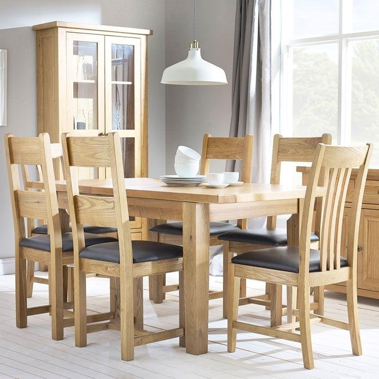 Denver Oak Extending Dining Table & 4 Chairs regarding Oak Extending Dining Tables and 4 Chairs