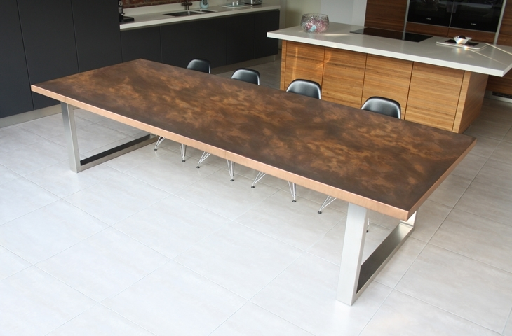 Design & Décor: Copper Tables And Furnishings In Top London Bars And In Dining Tables London (View 21 of 25)