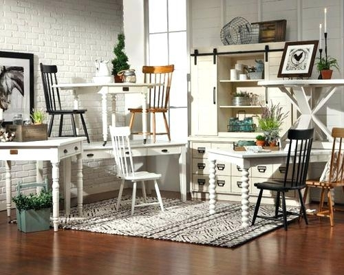 Designed Farmhouse Kitchen Table Chairs And China Cabinet From Her With Regard To Magnolia Home Shop Floor Dining Tables With Iron Trestle (Image 3 of 25)