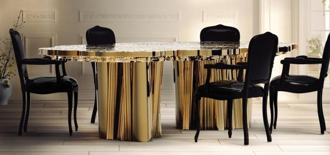 Designer Kitchen Table Cool Designer Dining Tables Metalic Table For Marbella Dining Tables (View 16 of 25)