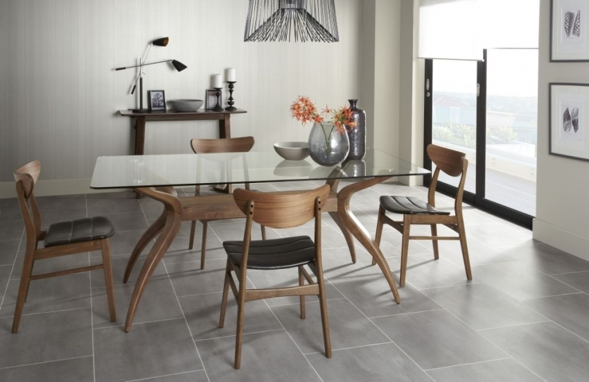 Detroit Walnut 180Cm Fixed Top Rectangular Dining Table For Walnut Dining Tables And Chairs (Image 7 of 25)