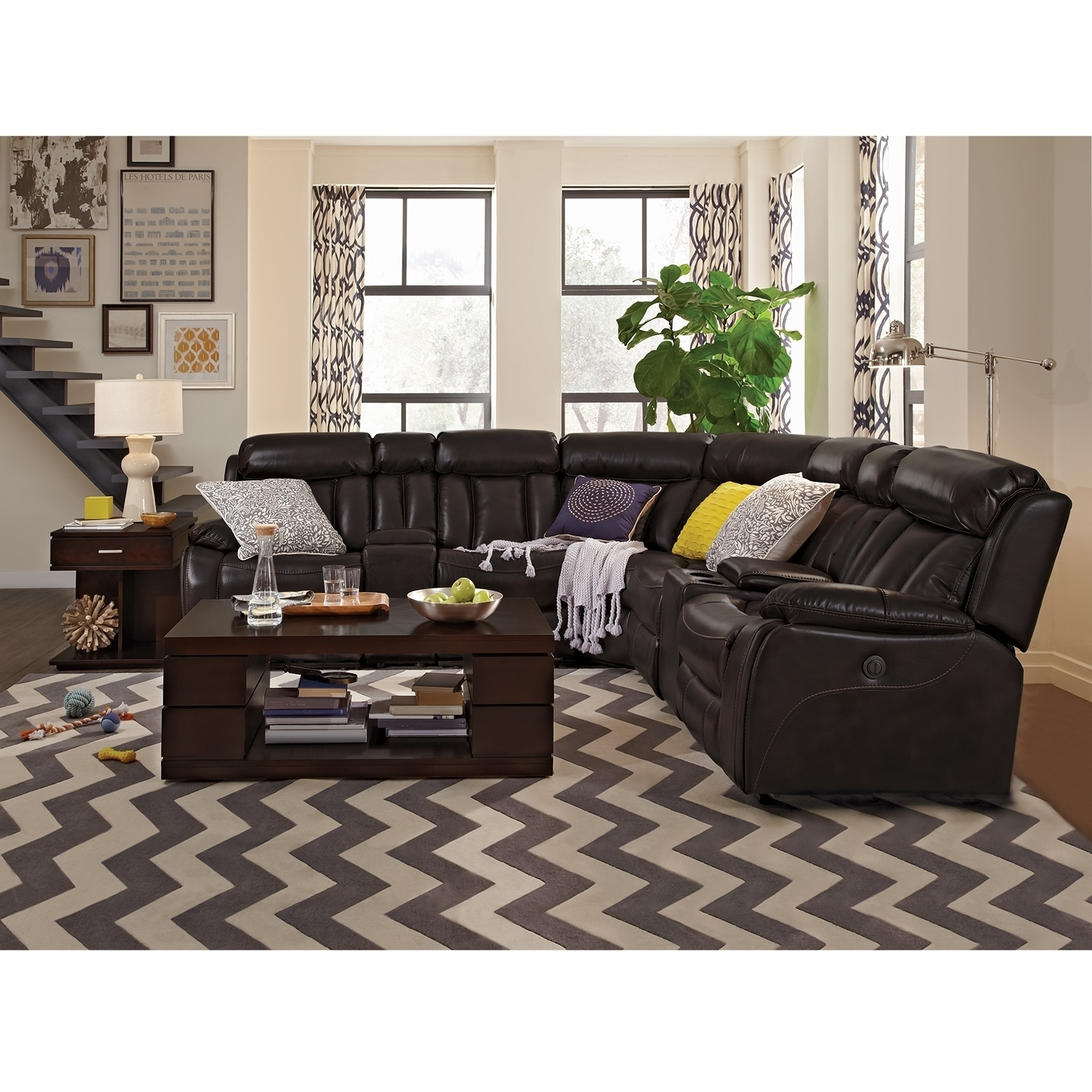 Diablo 7 Piece Power Reclining Sectional With Armless Power Chair Pertaining To Haven 3 Piece Sectionals (Image 6 of 25)