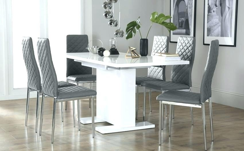 Digital Camera Grey And White Dining Table Chairs Round Marble With Dining Tables With Grey Chairs (Image 9 of 25)