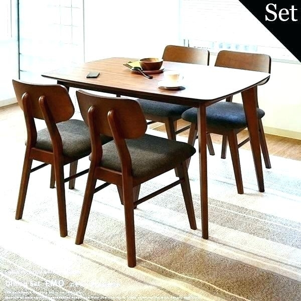 Diner Table Sets Dining Table Dining Table Retro Dining Set Hang With Regard To Walnut Dining Table Sets (Image 9 of 25)