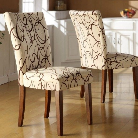 Dining Chair Fabric Ideas | Design Ideas 2017 2018 | Pinterest Intended For Fabric Dining Room Chairs (Image 3 of 25)