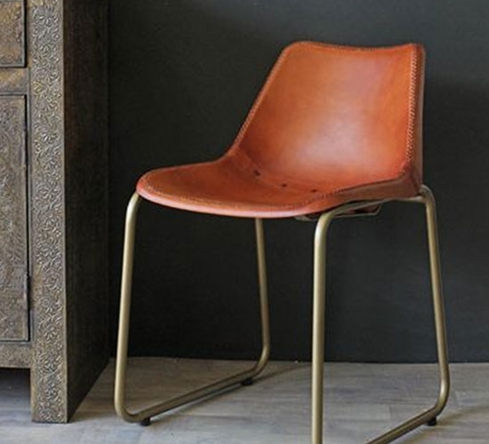 Dining Chairs – 10 Of The Best | Ideal Home For Brown Leather Dining Chairs (Image 13 of 25)