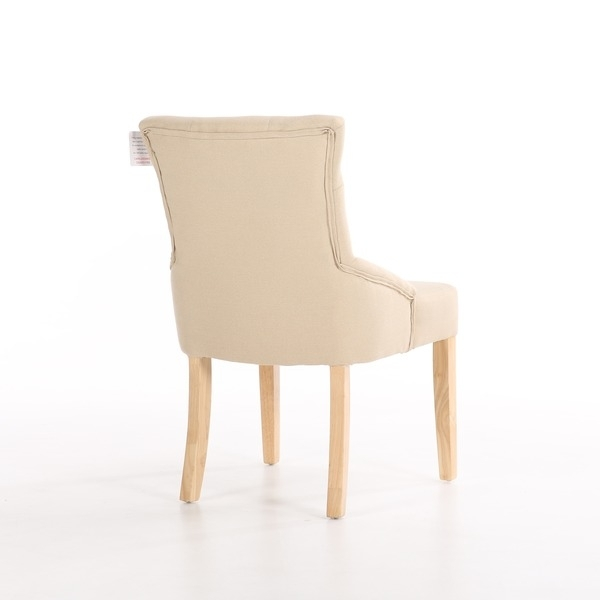 Dining Chairs Set Of 2 Buckingham Fabric Scoop Button Back Dining Throughout Button Back Dining Chairs (Image 15 of 25)