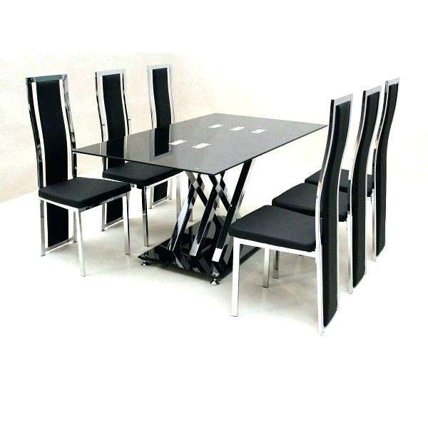 Dining Chairs Set Of 6 Glass Dining Room Sets For 6 Amazing Dining For Cheap Glass Dining Tables And 6 Chairs (Image 16 of 25)