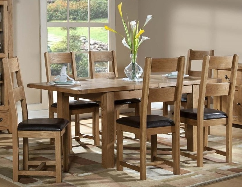 Dining Chairs : Somerset Oak 1200 Extending Table + 6 Chairssomerset With Regard To Extendable Oak Dining Tables And Chairs (View 25 of 25)