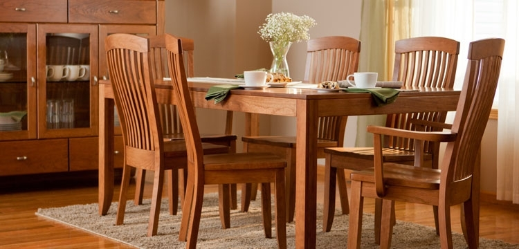 Dining Furniture From Simply Amish intended for Craftsman 5 Piece Round Dining Sets With Side Chairs