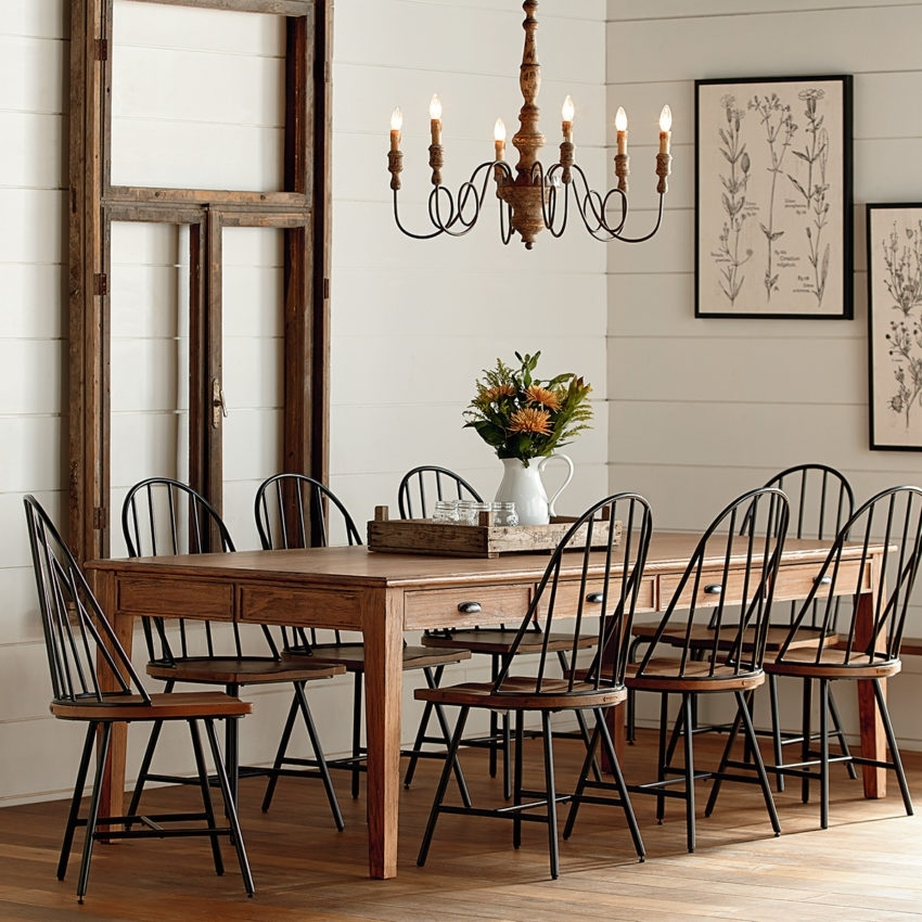 Dining – Furniture – Mayo's Furniture & Flooring, Vermont Intended For Magnolia Home Taper Turned Jo's White Gathering Tables (Image 2 of 25)