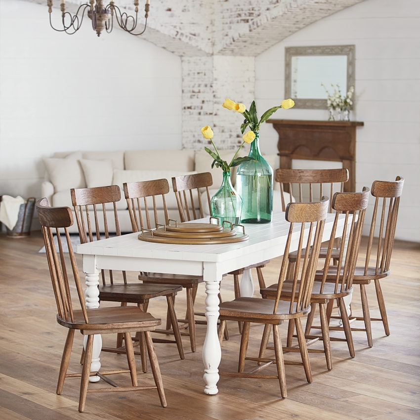 Dining – Furniture – Mayo's Furniture & Flooring, Vermont Within Magnolia Home Taper Turned Jo's White Gathering Tables (Image 2 of 25)