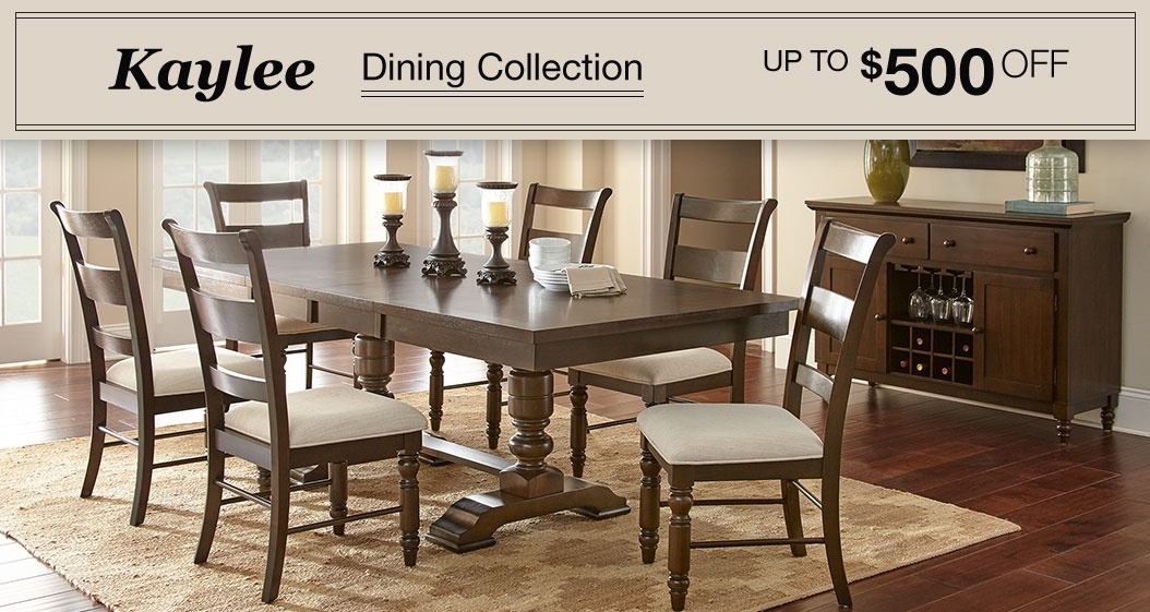 Dining & Kitchen Furniture | Costco intended for Chandler 7 Piece Extension Dining Sets With Wood Side Chairs