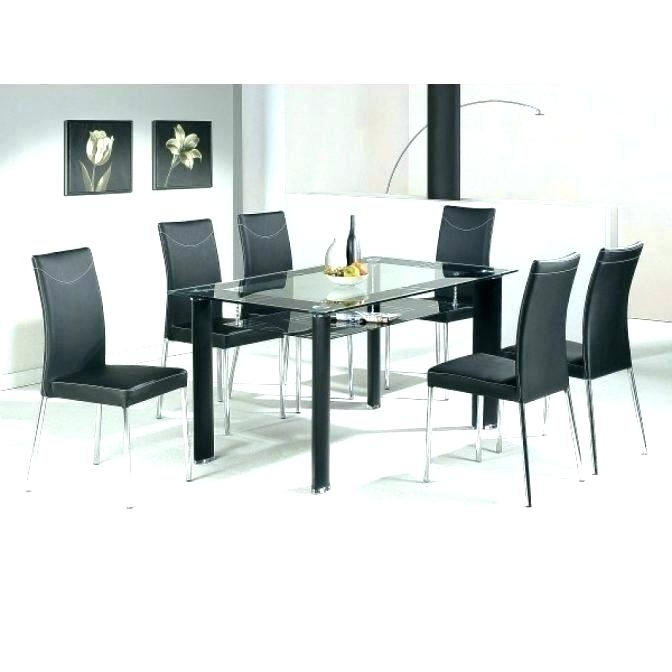 Dining Room 6 Chairs Round Table That Seats 6 Black Extendable With Regard To Black Glass Dining Tables With 6 Chairs (Image 13 of 25)