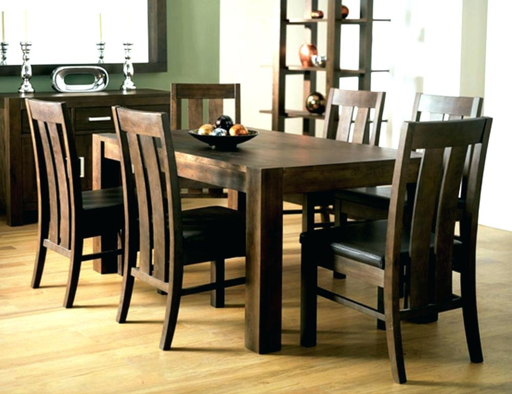 Dining Room 6 Chairs Solid Oak Dining Table And 6 Chairs Vancouver In Walnut Dining Table And 6 Chairs (Image 11 of 25)