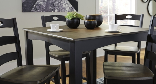 Dining Room Affordable Mattress And Furniture With Craftsman 7 Piece Rectangle Extension Dining Sets With Side Chairs (Image 6 of 25)