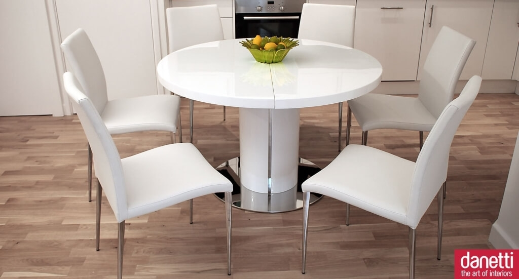 Dining Room: Antique White Dining Room Table With Wooden Pedestal Inside Cheap Round Dining Tables (Image 6 of 25)
