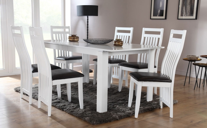 Dining Room: Awesome White Dining Room Table White Dining Room Sets Pertaining To White Dining Tables (Image 7 of 25)