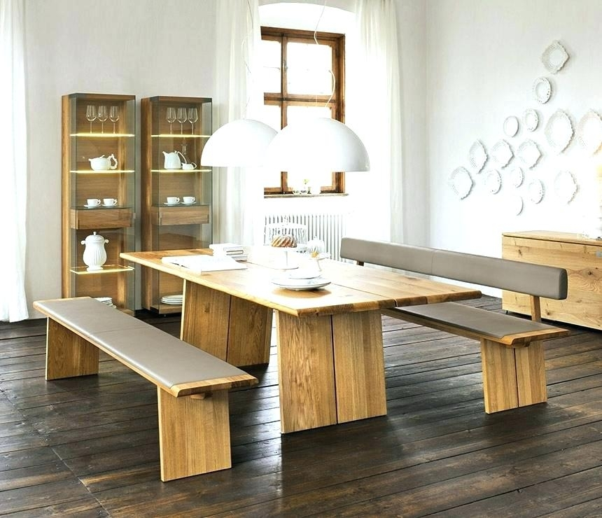 Dining Room Bench Sets Modern Dining Set With Bench Amazing Big Intended For Small Dining Tables And Bench Sets (Image 9 of 25)