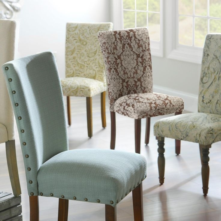 Dining Room Chairs, Dining Room Chairs 2018 | Dining Room Decor Pertaining To Fabric Dining Room Chairs (Image 5 of 25)