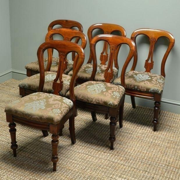 Dining Room Chairs Ebay Splendid Antique Walnut Dining Chairs Set Of Intended For Dining Chairs Ebay (Image 10 of 25)