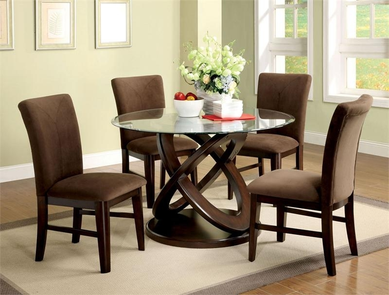 Dining Room Chairs For A Glass Table Glass Table Dining Table Round For Round Black Glass Dining Tables And Chairs (Image 8 of 25)