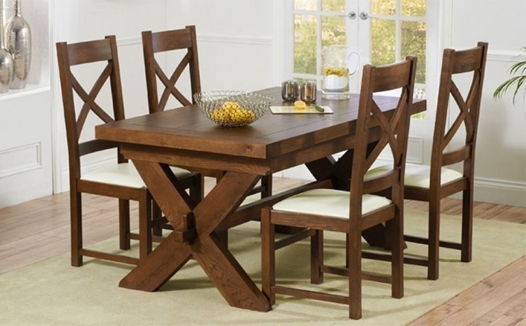 Dining Room Chairs Wooden Of Worthy Solid Wood Table Sets All With In Solid Dark Wood Dining Tables (Image 10 of 25)