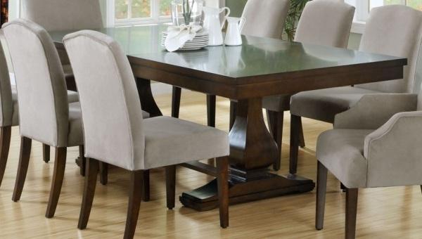 Dining Room Design: Dark Wooden Extension Dining Table, Dining Table For Dining Tables Dark Wood (View 5 of 25)