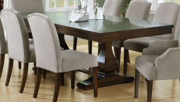 Dining Room Design: Dark Wooden Extension Dining Table, Dining Table With Regard To Dark Dining Room Tables (Image 14 of 25)