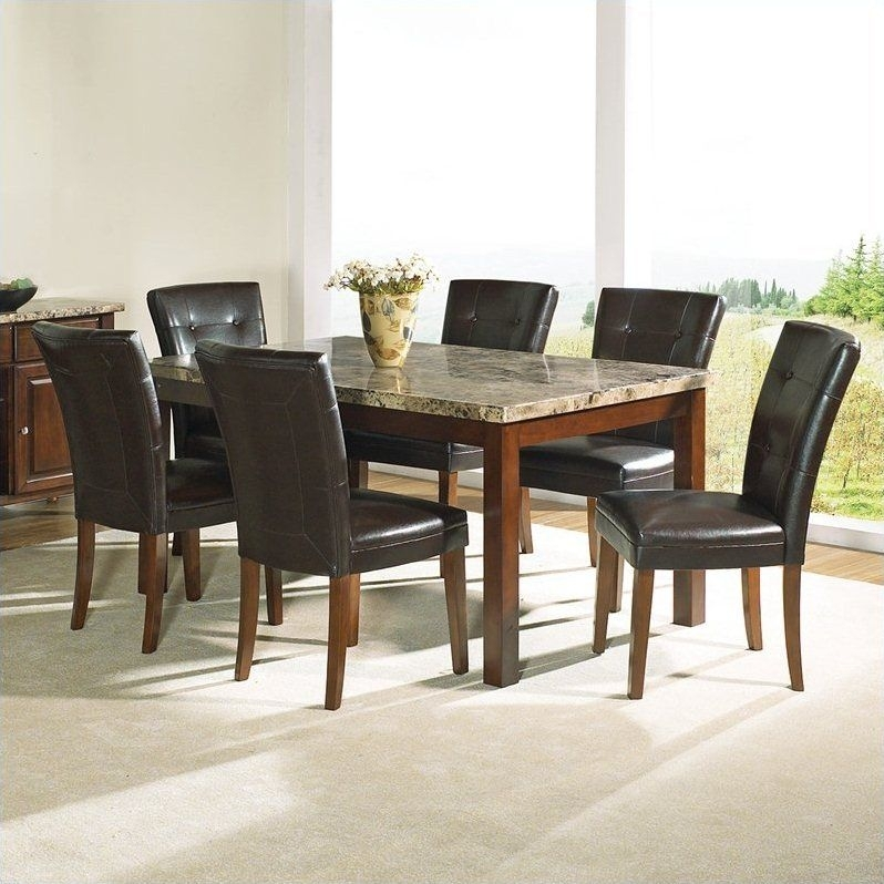 Dining Room Dining Room Sets Formal Granite Top Dining Table Dining With Dining Tables With 6 Chairs (View 15 of 25)